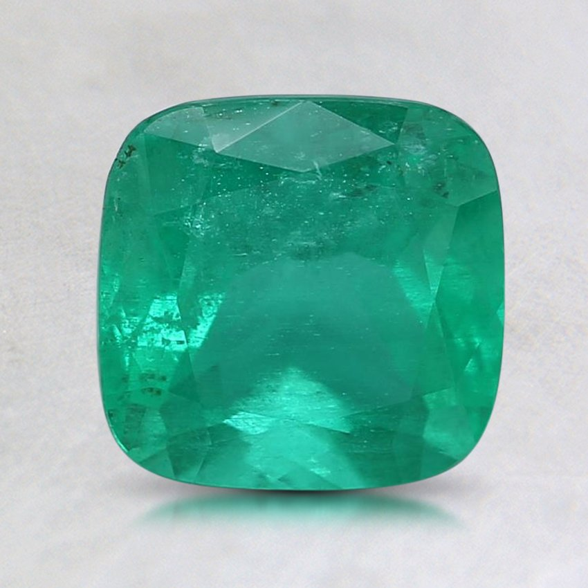 7.5x7.4mm Cushion Emerald