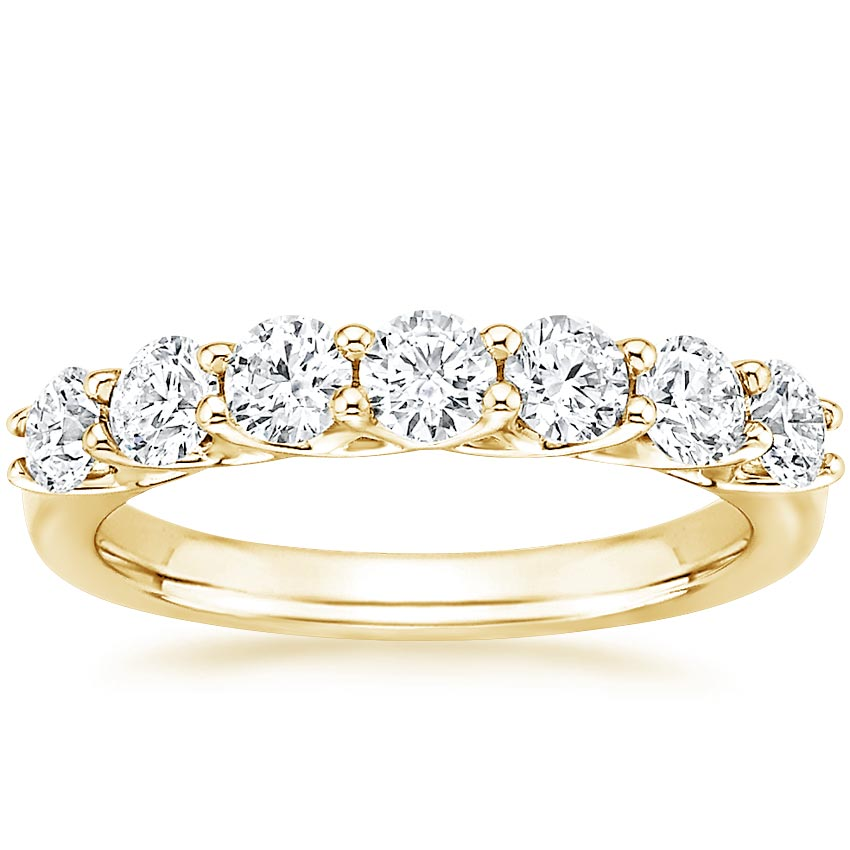 Yellow Gold Seven Stone Trellis Lab Diamond Ring (7/8 ct. tw.)