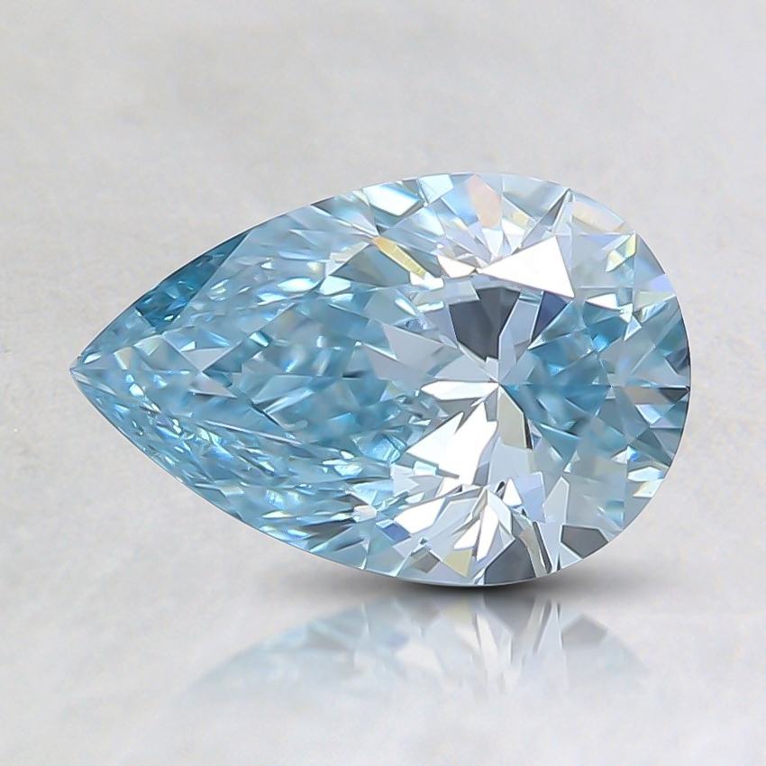 0.85 Ct. Fancy Intense Green-Blue Pear Lab Created Diamond