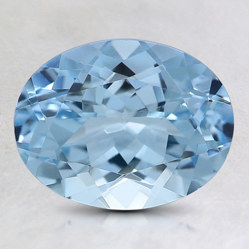 9x7mm Fine Oval Aquamarine