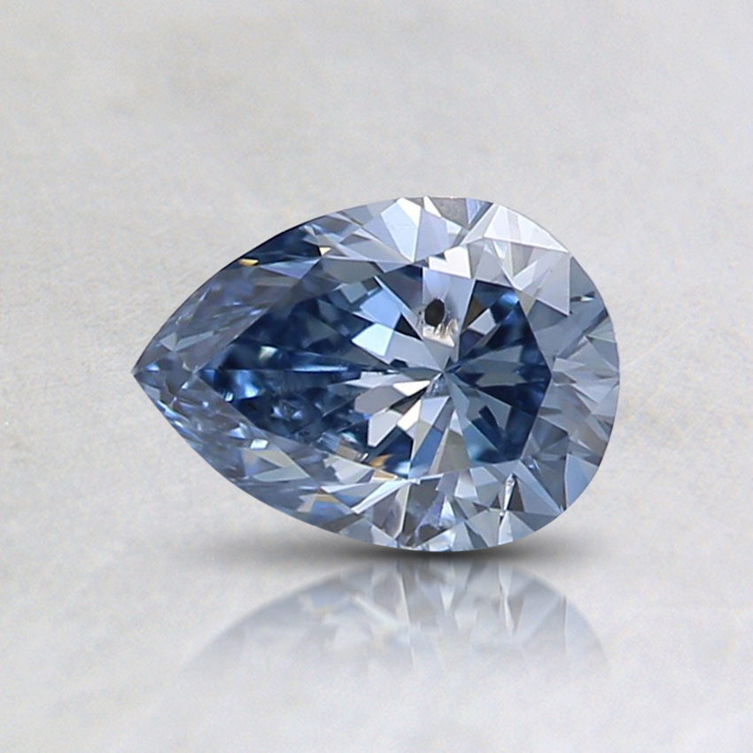 0.59 Ct. Fancy Vivid Blue Pear Lab Created Diamond