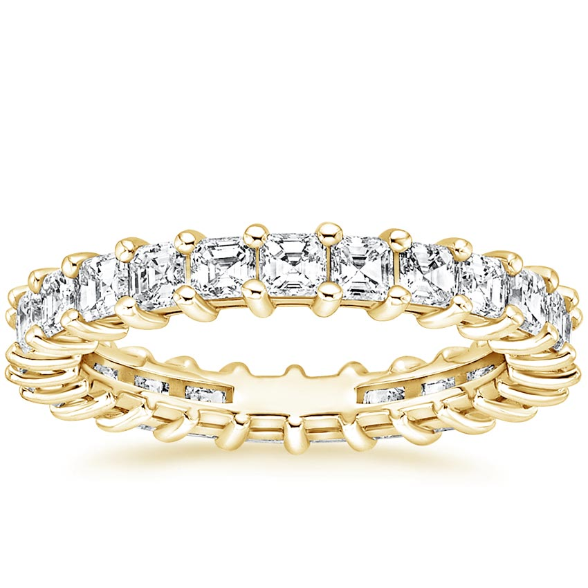 Yellow Gold Asscher Eternity Diamond Ring (2 ct. tw.)
