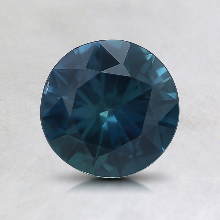 6.4mm Teal Round Sapphire