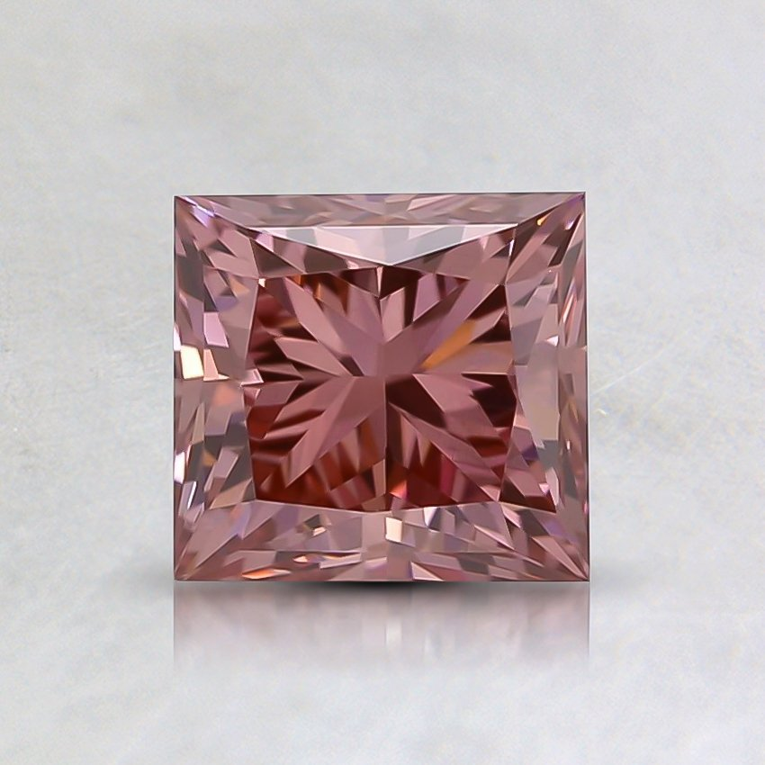 1.18 Ct. Fancy Intense Pink Princess Lab Created Diamond