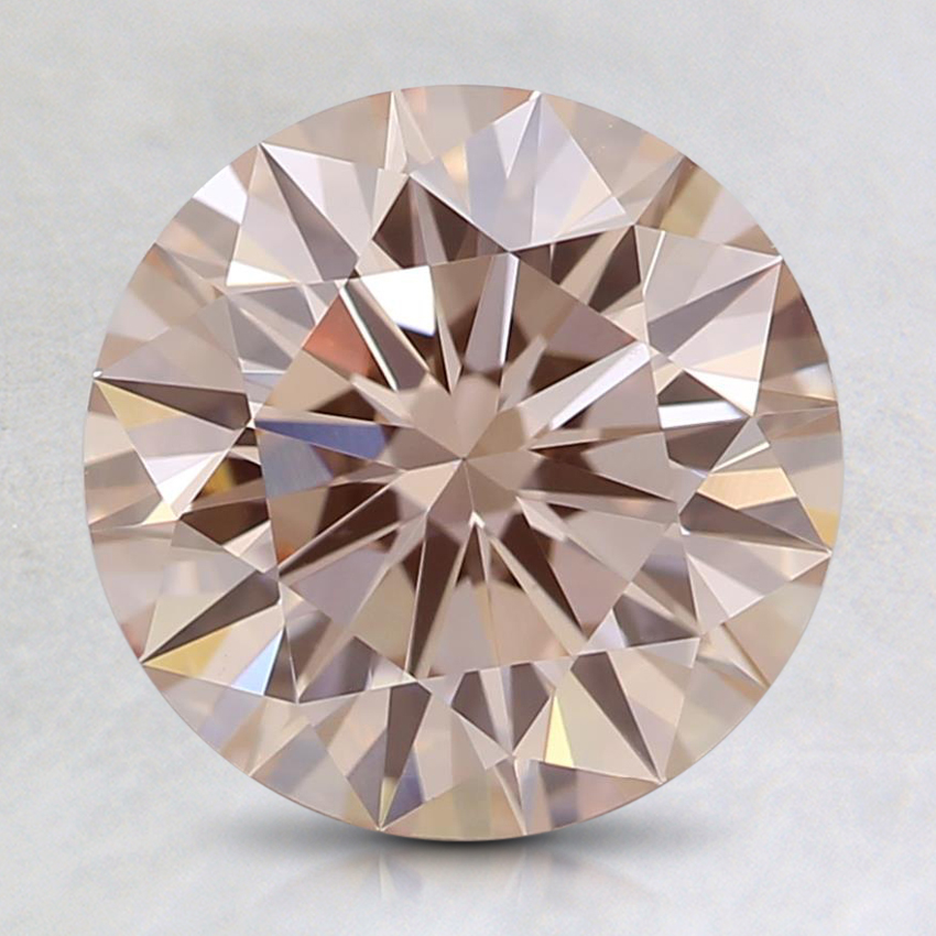 2.03 Ct. Fancy Orangy Pink Round Lab Created Diamond