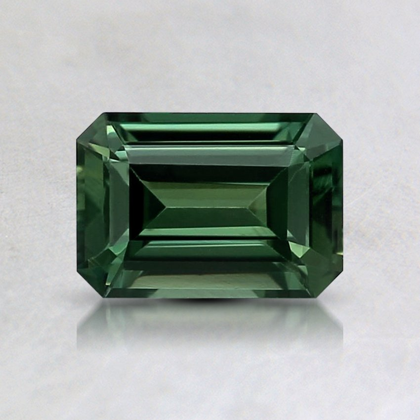 6.4x4.5mm Teal Emerald Sapphire, top view