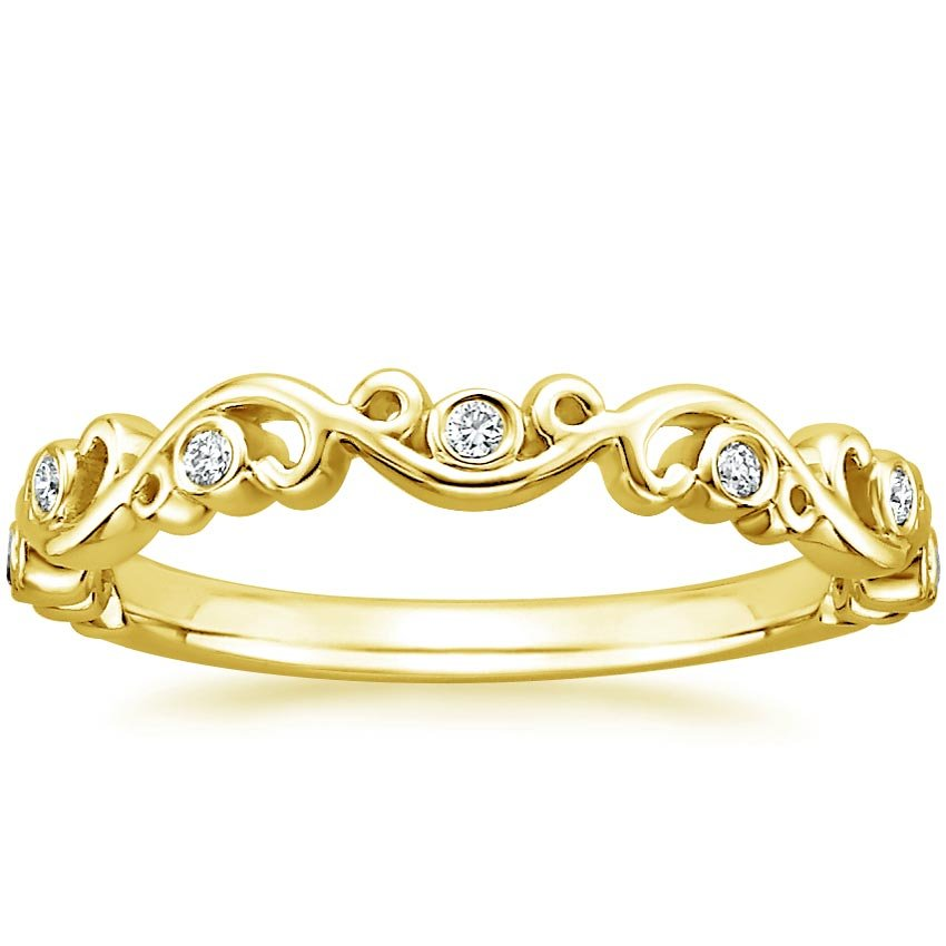 Petite Ivy Scroll Wedding Ring Brilliant Earth