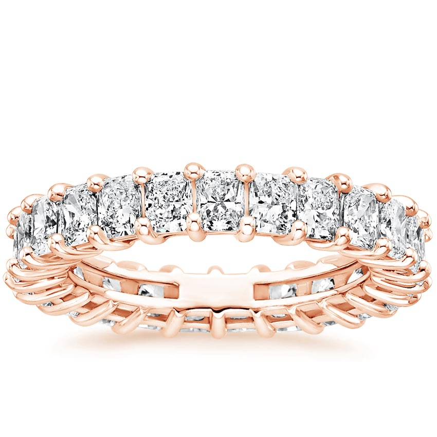 Rose Gold Radiant Eternity Diamond Ring (3 ct. tw.)