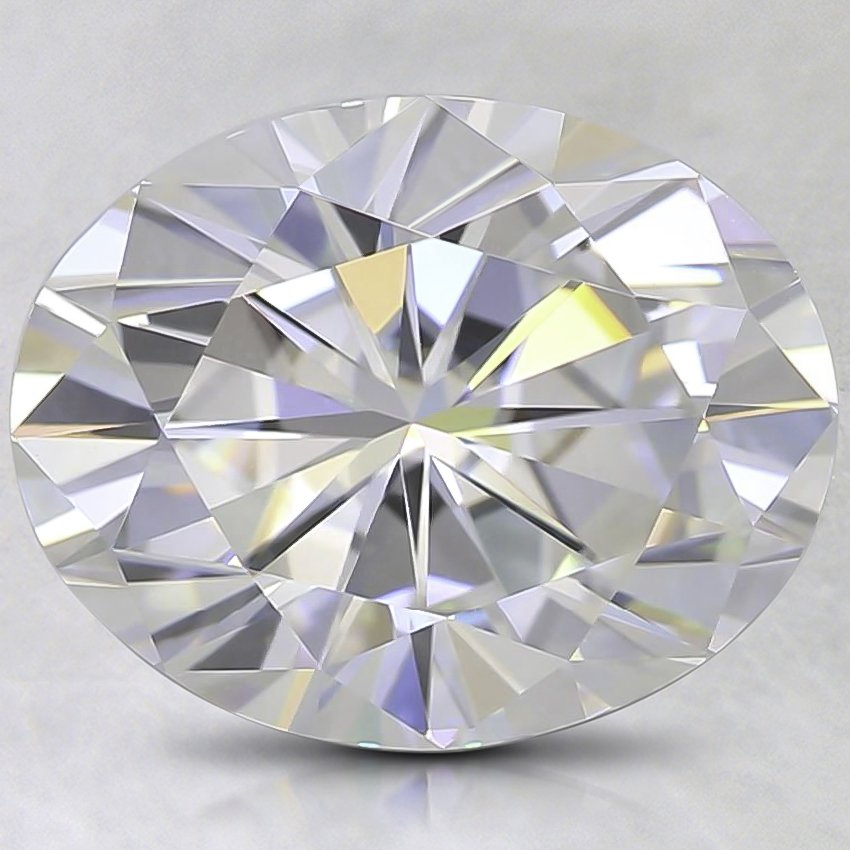 10x8.1mm Super Premium Oval Moissanite