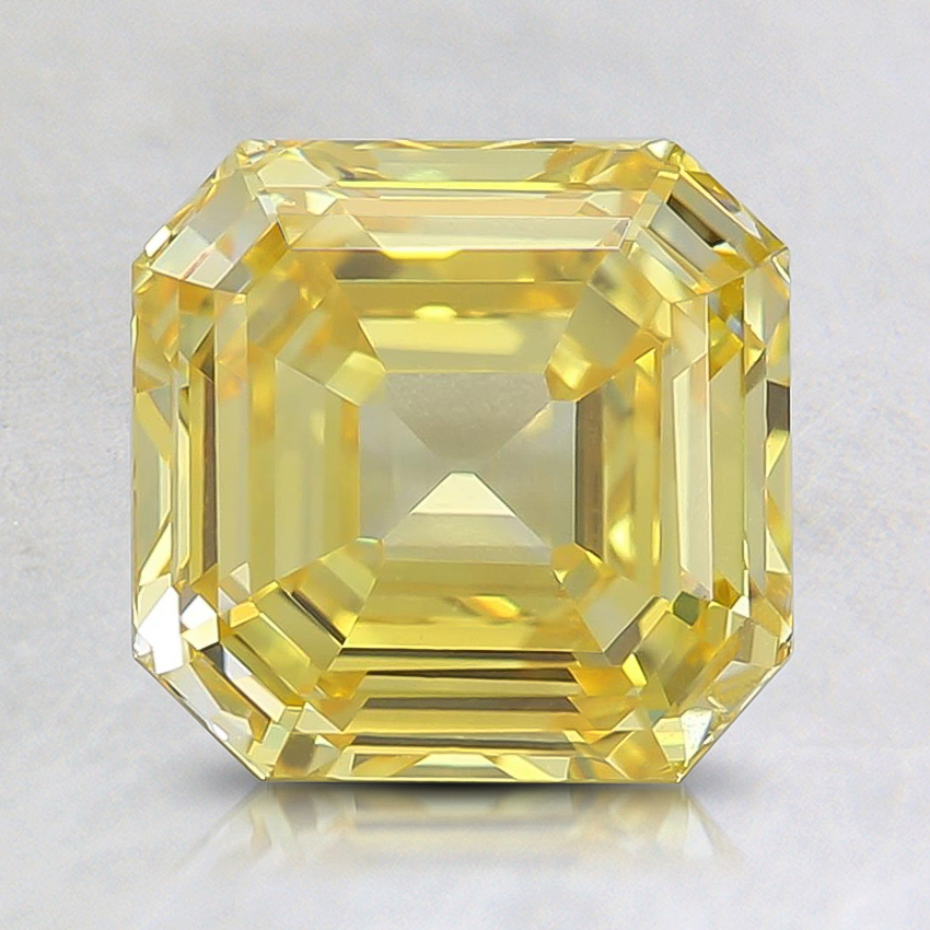 1.89 Ct. Fancy Vivid Orangy Yellow Asscher Lab Created Diamond