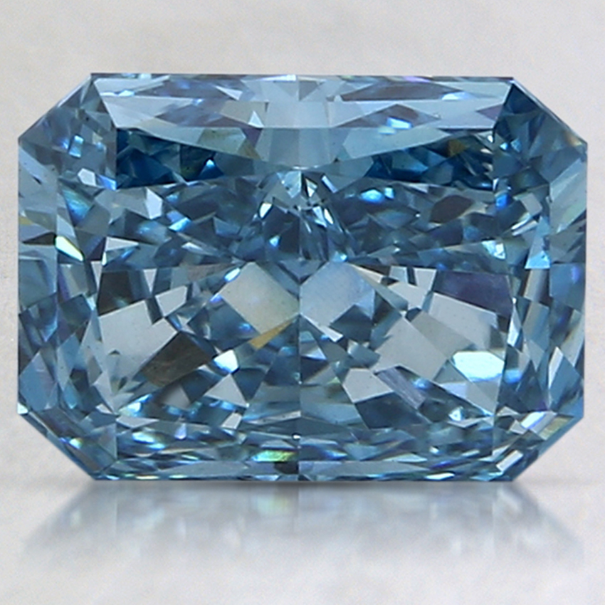 3.03 Ct. Fancy Intense Blue Radiant Lab Created Diamond