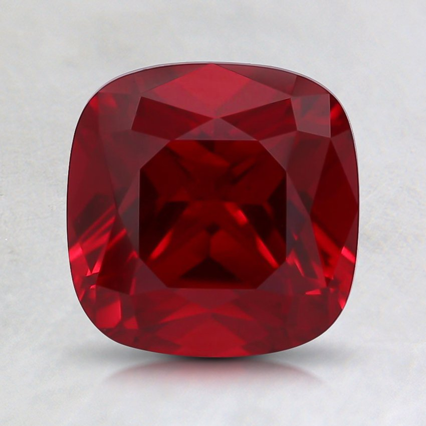 7mm Cushion Lab Created Ruby