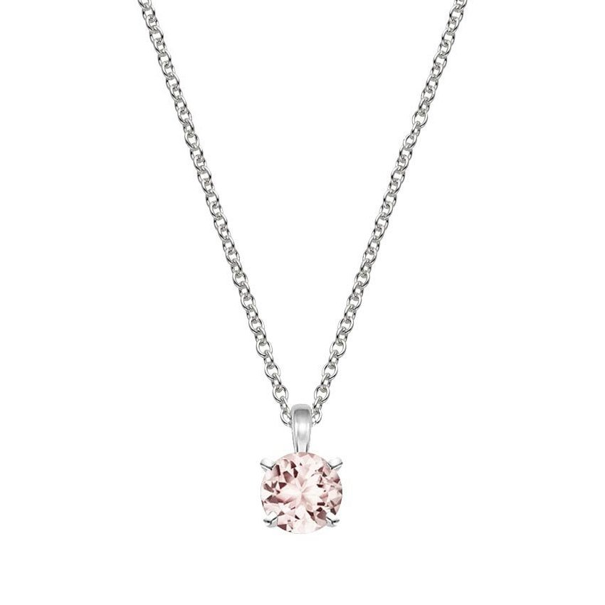 p m necklace rose pendant and morganite diamond gold