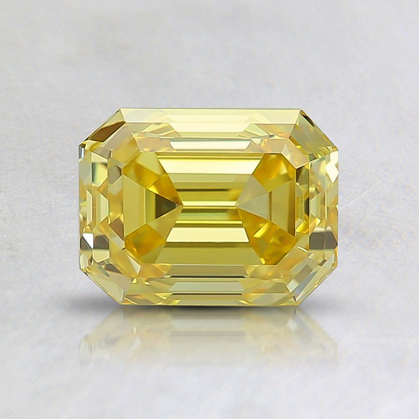 1.02 Ct. Fancy Vivid Yellow Emerald Lab Created Diamond