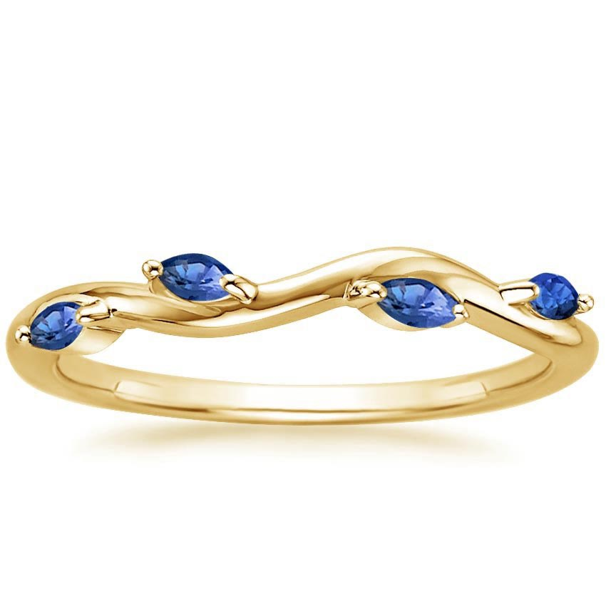 Yellow Gold Winding Willow Sapphire Ring