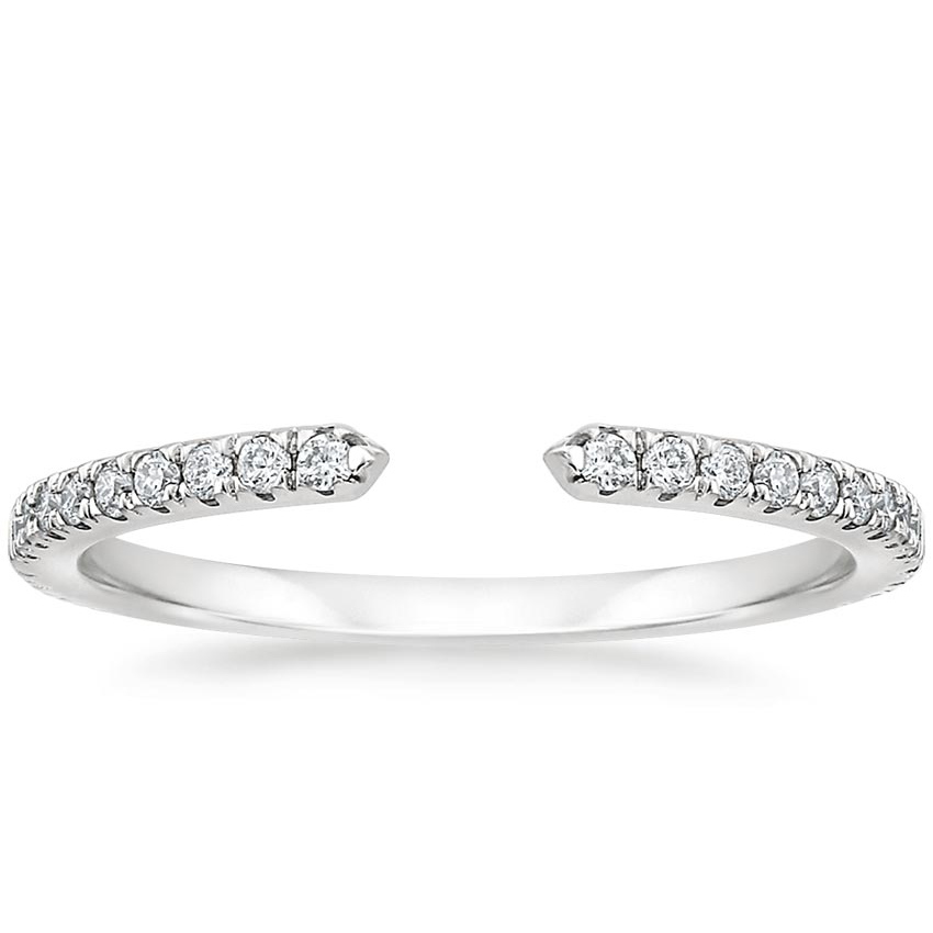 Open Diamond Wedding Band