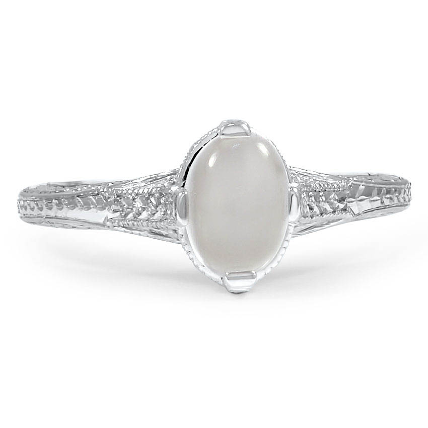 Custom Vintage-Inspired Moonstone Ring