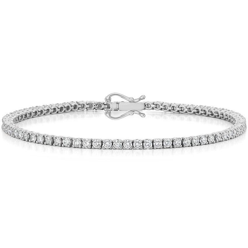 f9712ea90a1 18K White Gold Diamond Tennis Bracelet (3 ct. tw.)