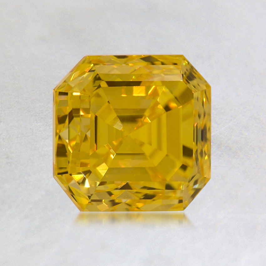 1.34 ct. Lab Created Fancy Vivid Yellow Asscher Diamond