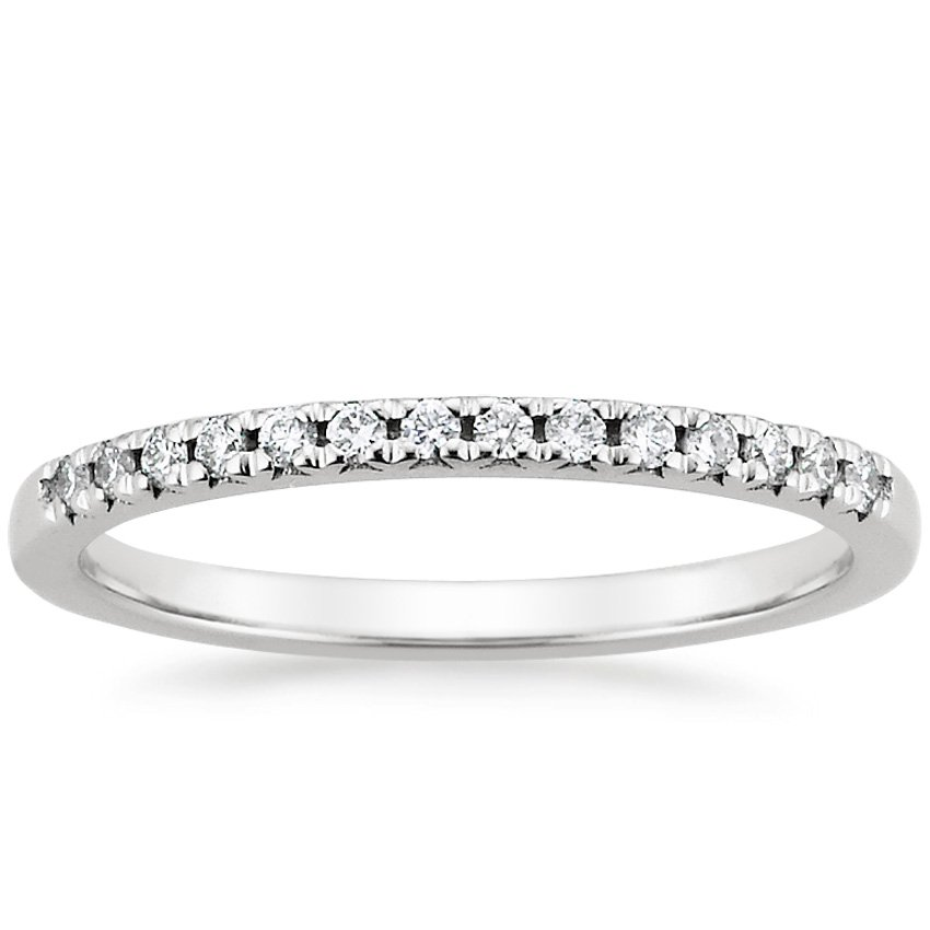 Petite French Pavé Diamond Ring