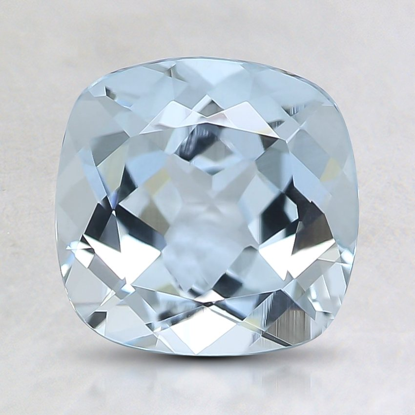 7.7x7.6mm Fine Cushion Aquamarine