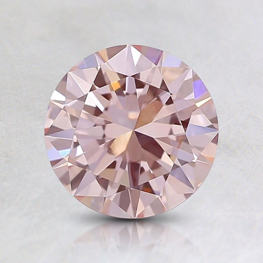0.80 Ct. Fancy Pink Round Lab Created Diamond