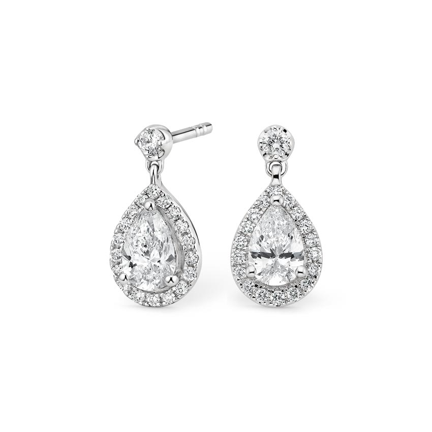 Opera Diamond Earrings (1 ct. tw.) in 18K White Gold
