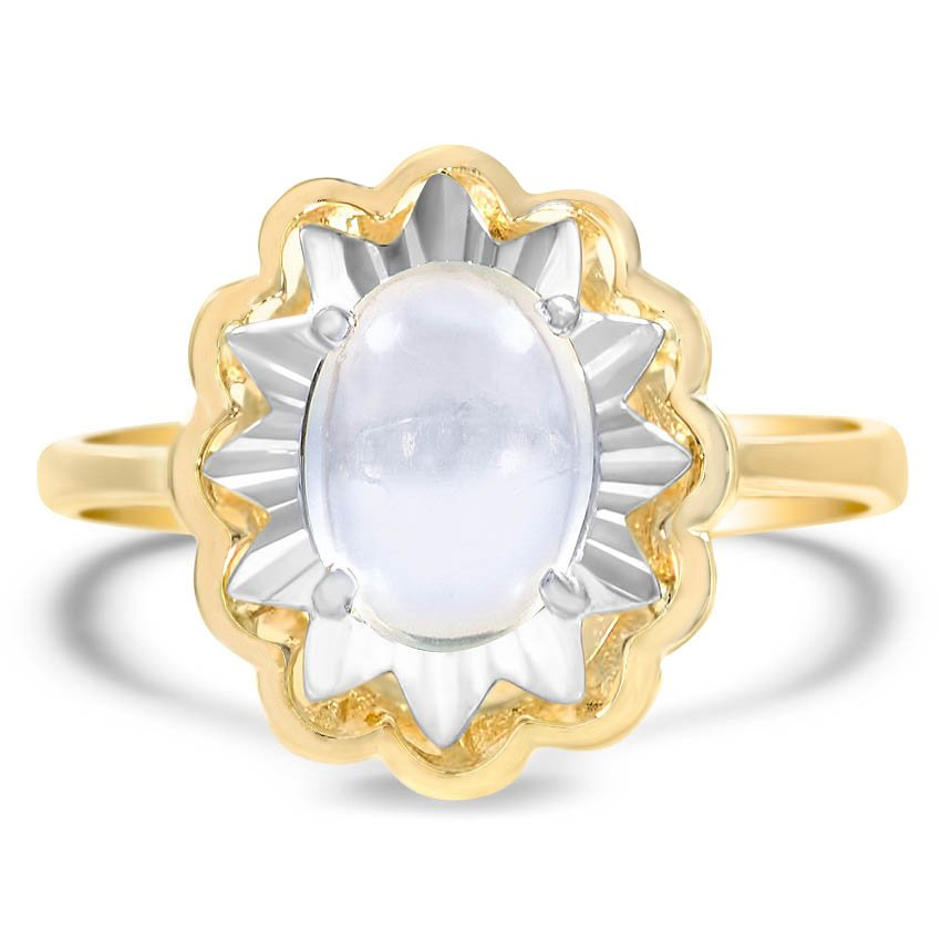Retro Moonstone Cocktail Ring