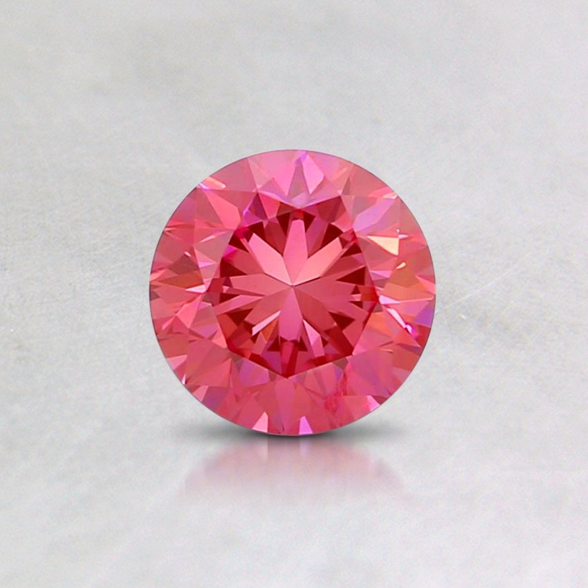 0.45 Ct. Fancy Intense Pink Round Lab Created Diamond