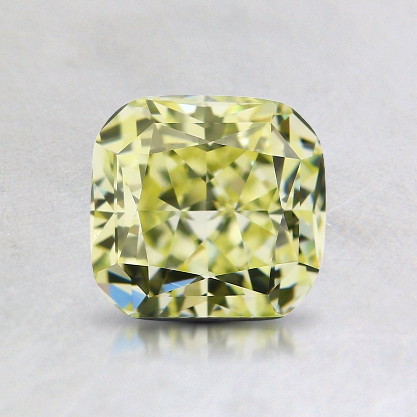 1.03 Ct. Natural Fancy Light Yellow Cushion Diamond