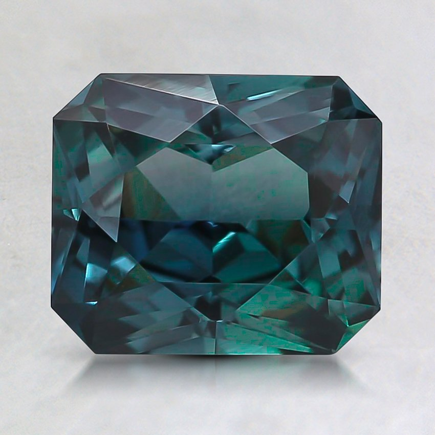 7.7x6.6mm Teal Radiant Sapphire