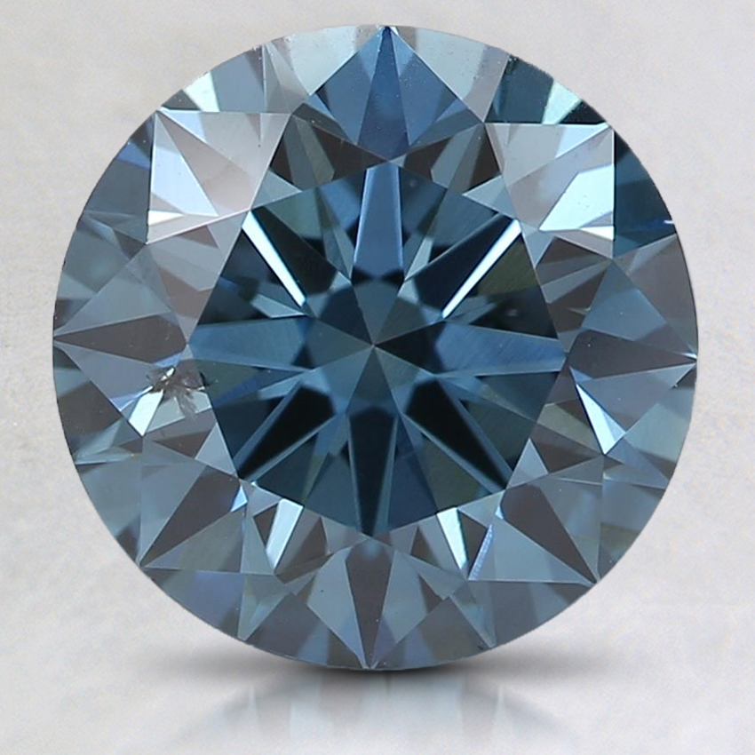 2.51 Ct. Fancy Deep Blue Round Lab Created Diamond