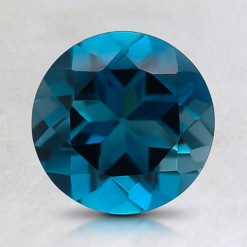 7.6mm Blue Round Topaz