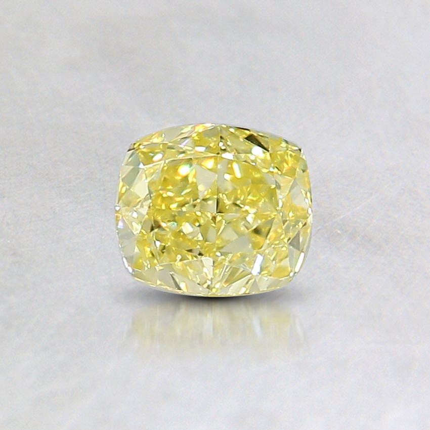0.38 Ct. Natural Fancy Intense Yellow Cushion Diamond