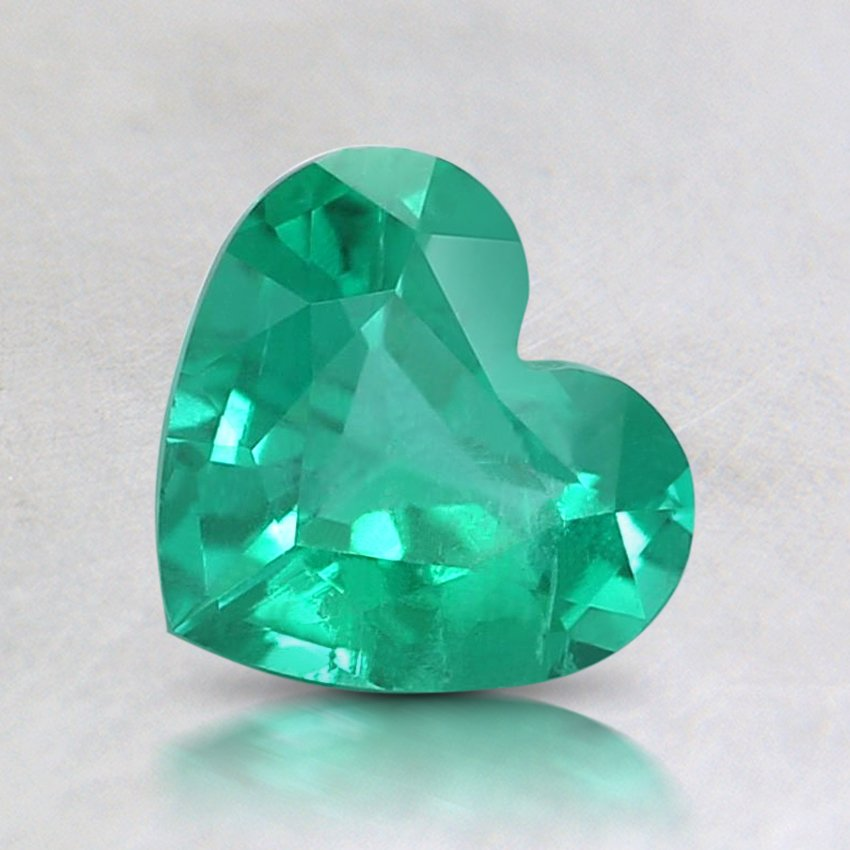 6.5X6mm Super Premium Heart Emerald