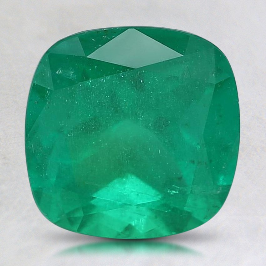 8.2mm Premium Cushion Emerald, top view