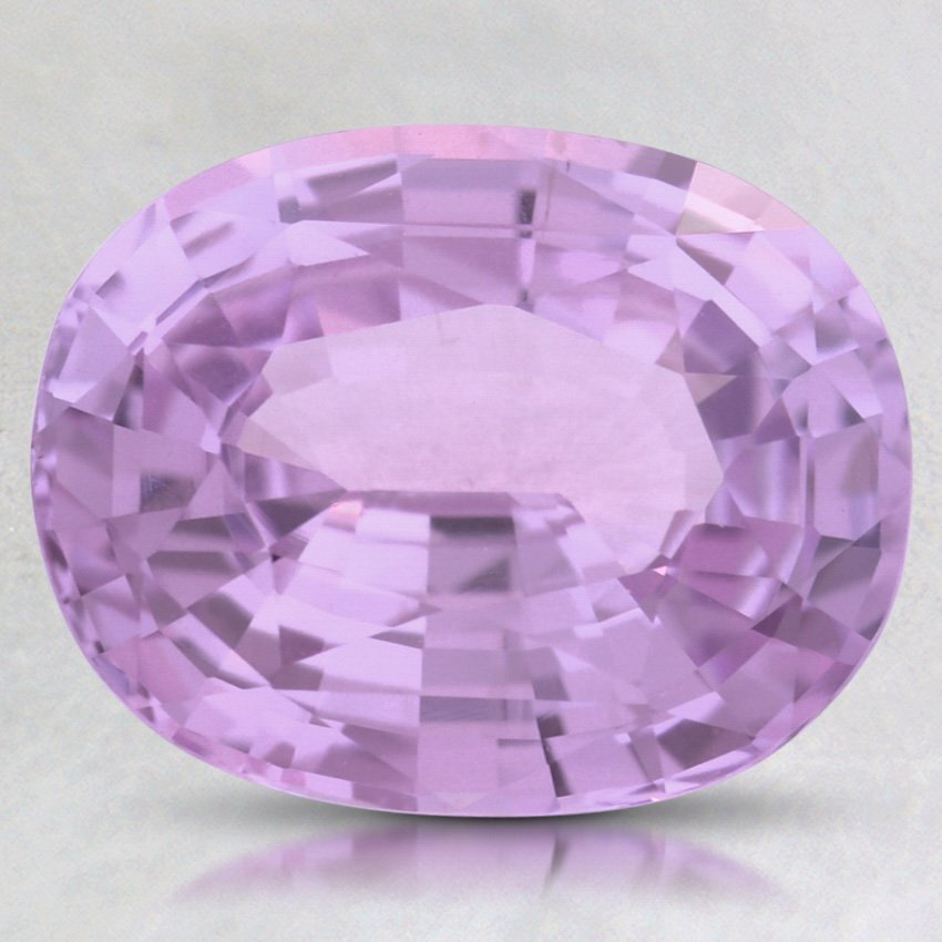 9.5X7.5mm Purple Oval Sapphire, top view