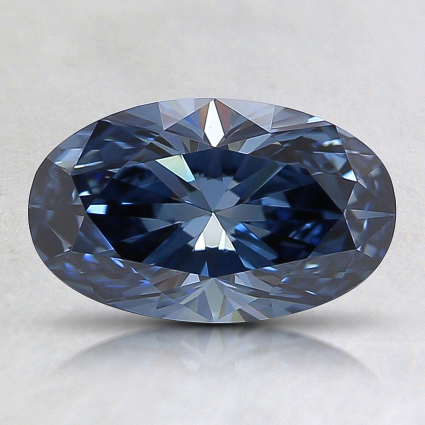 1.12 Ct. Fancy Vivid Blue Oval Lab Created Diamond