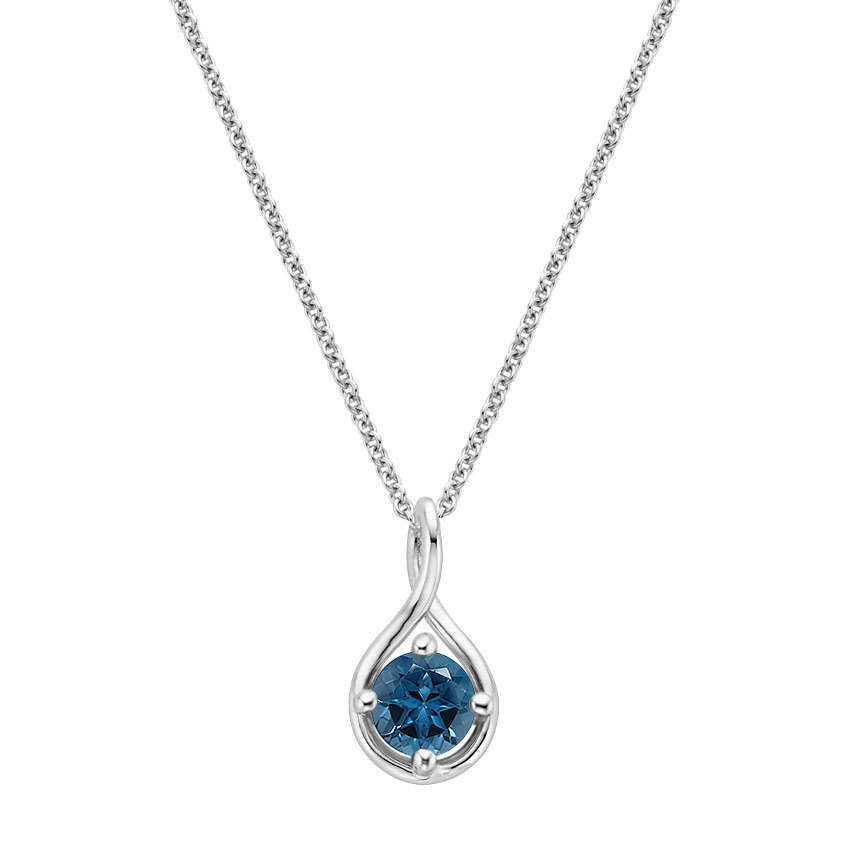 Top TwentyGifts - LONDON BLUE TOPAZ TWIST PENDANT