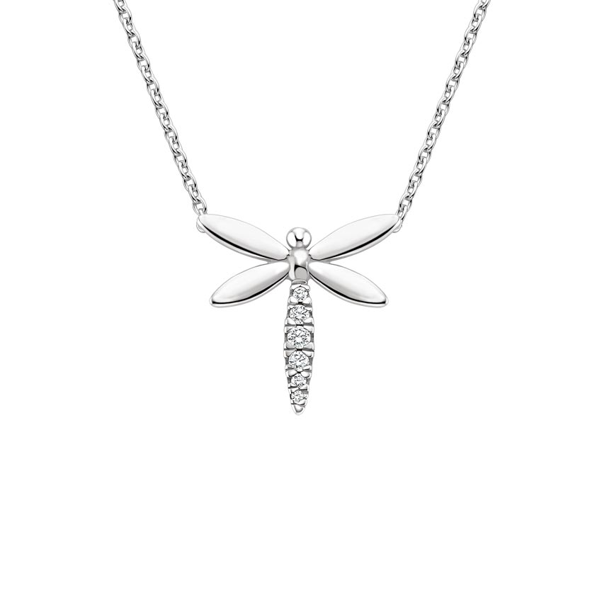 Dragonfly Diamond Pendant
