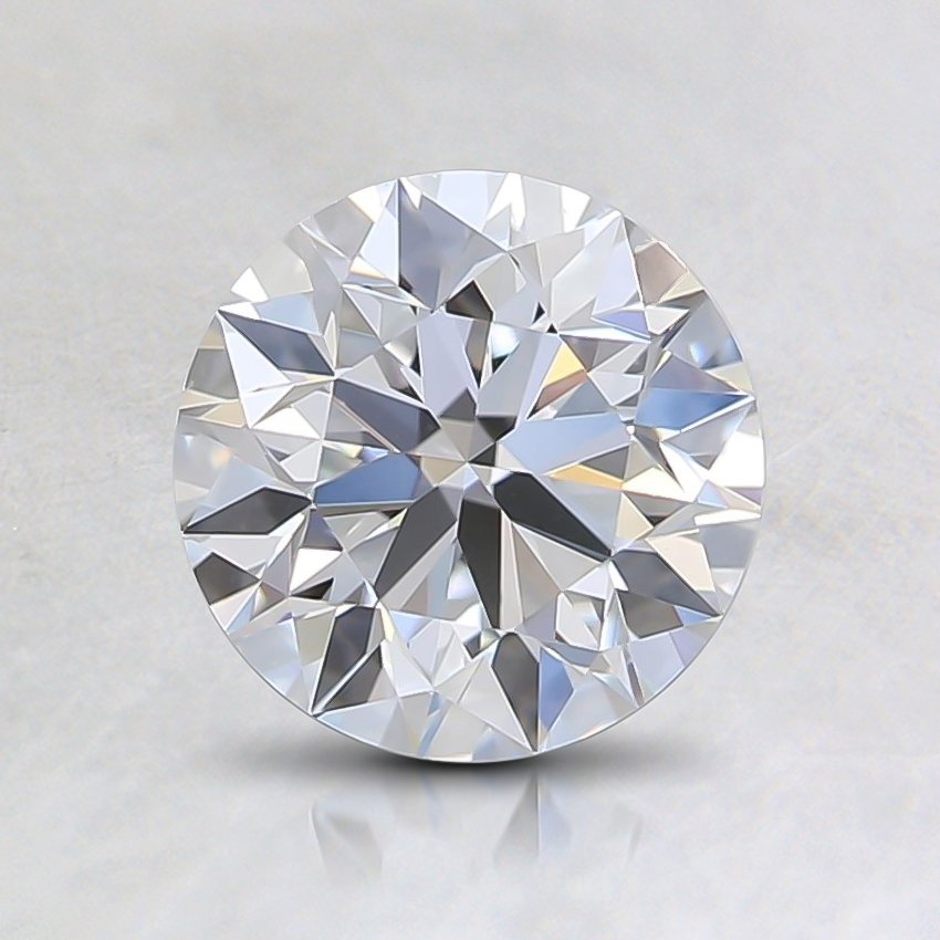 1.01 Ct. Fancy Faint Blue Round Lab Created Diamond