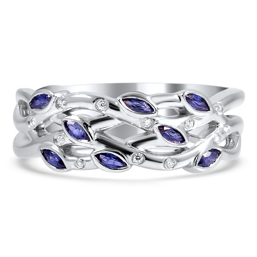 Top Twenty Custom Rings - SAPPHIRE BLOOMING WEDDING RING