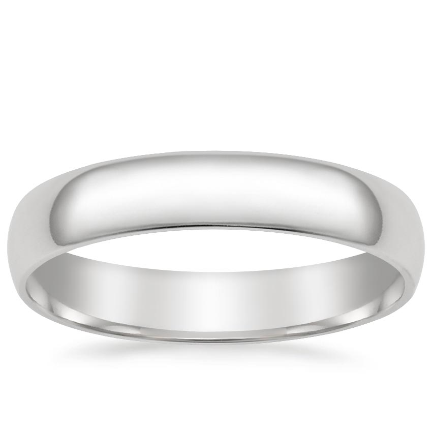 4mm Slim Profile Wedding Ring in Platinum