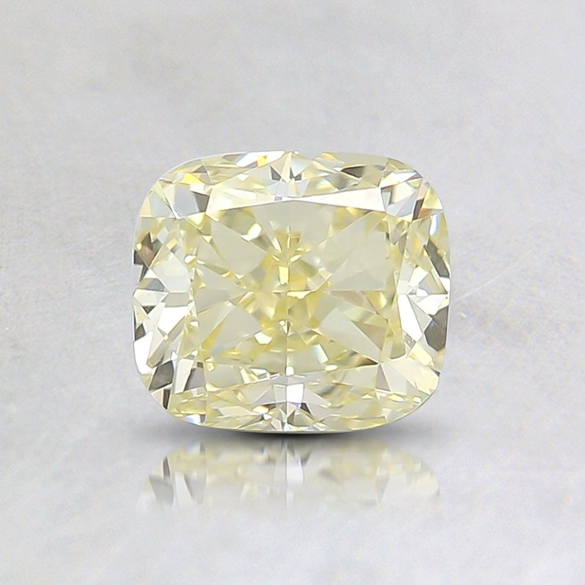 0.79 Ct. Fancy Yellow Cushion Diamond