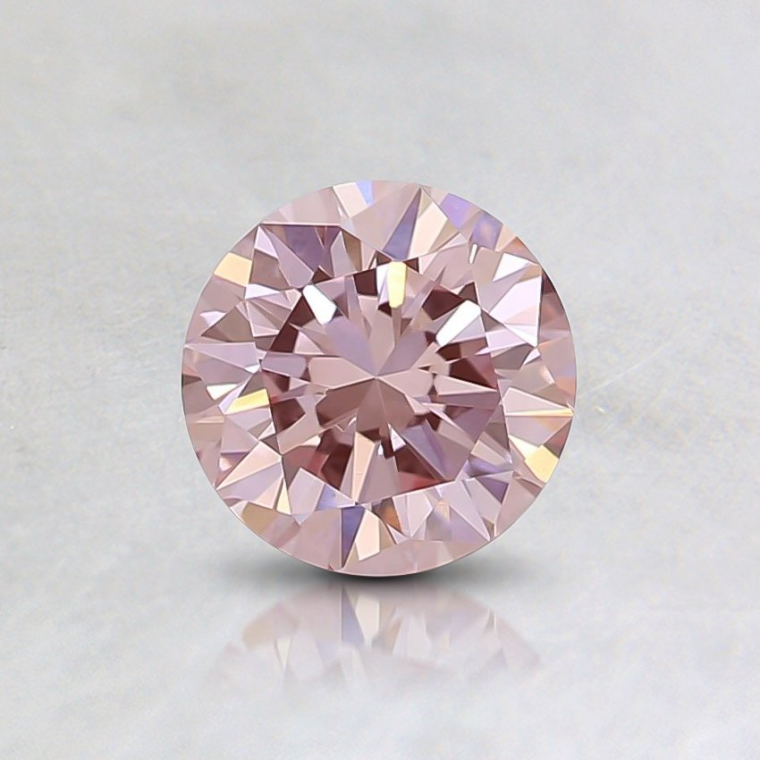 0.52 Ct. Lab Created Fancy Pink Round   Diamond