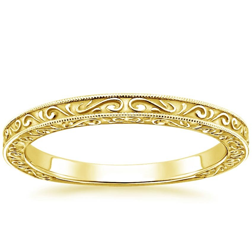 18K Yellow Gold True Heart Ring, top view