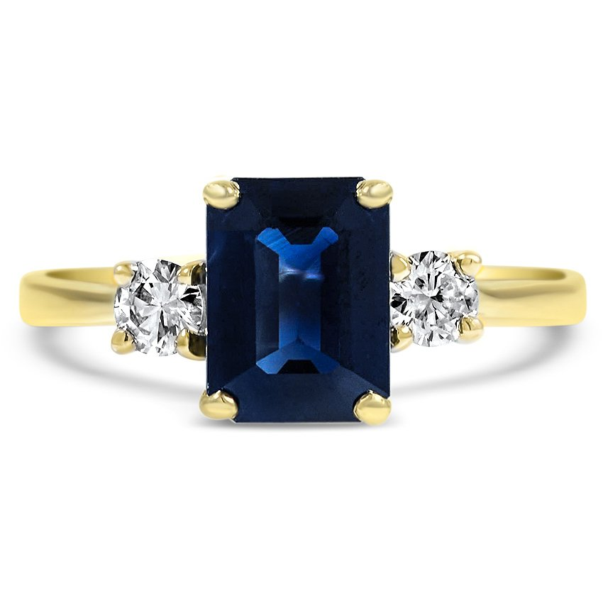 diamond mainye and ring designer cocktail gold sapphire blue