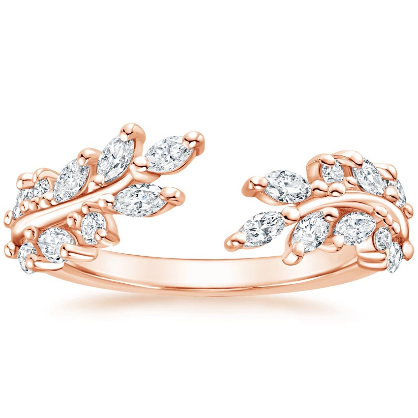 Rose Gold Sweeping Ivy Diamond Ring (1/2 ct. tw.)