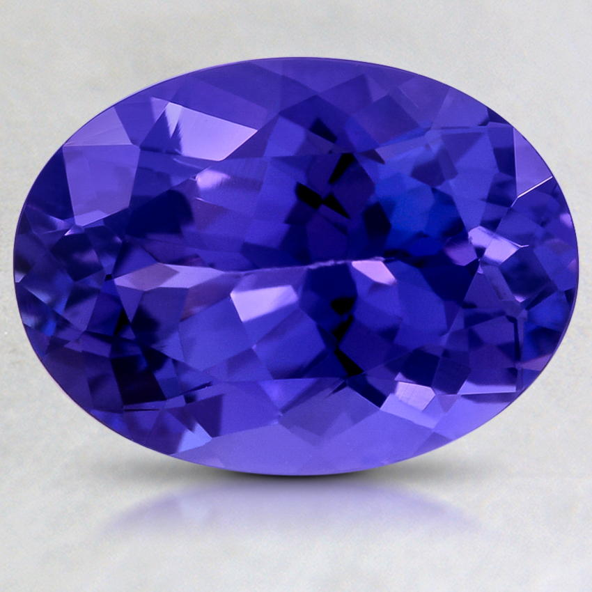 ring tanzanite oval diamond