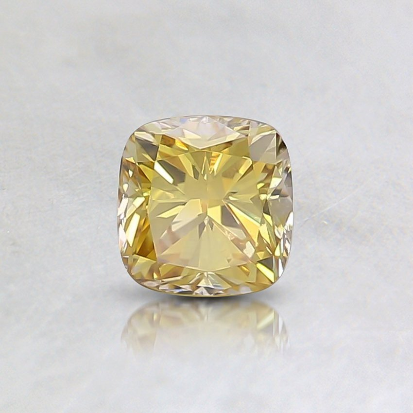 0.31 Ct. Fancy Intense Yellow Cushion Lab Created Diamond